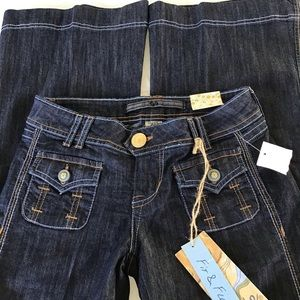 Tyte Jeans Fit & Flare Dark Blue Size 3